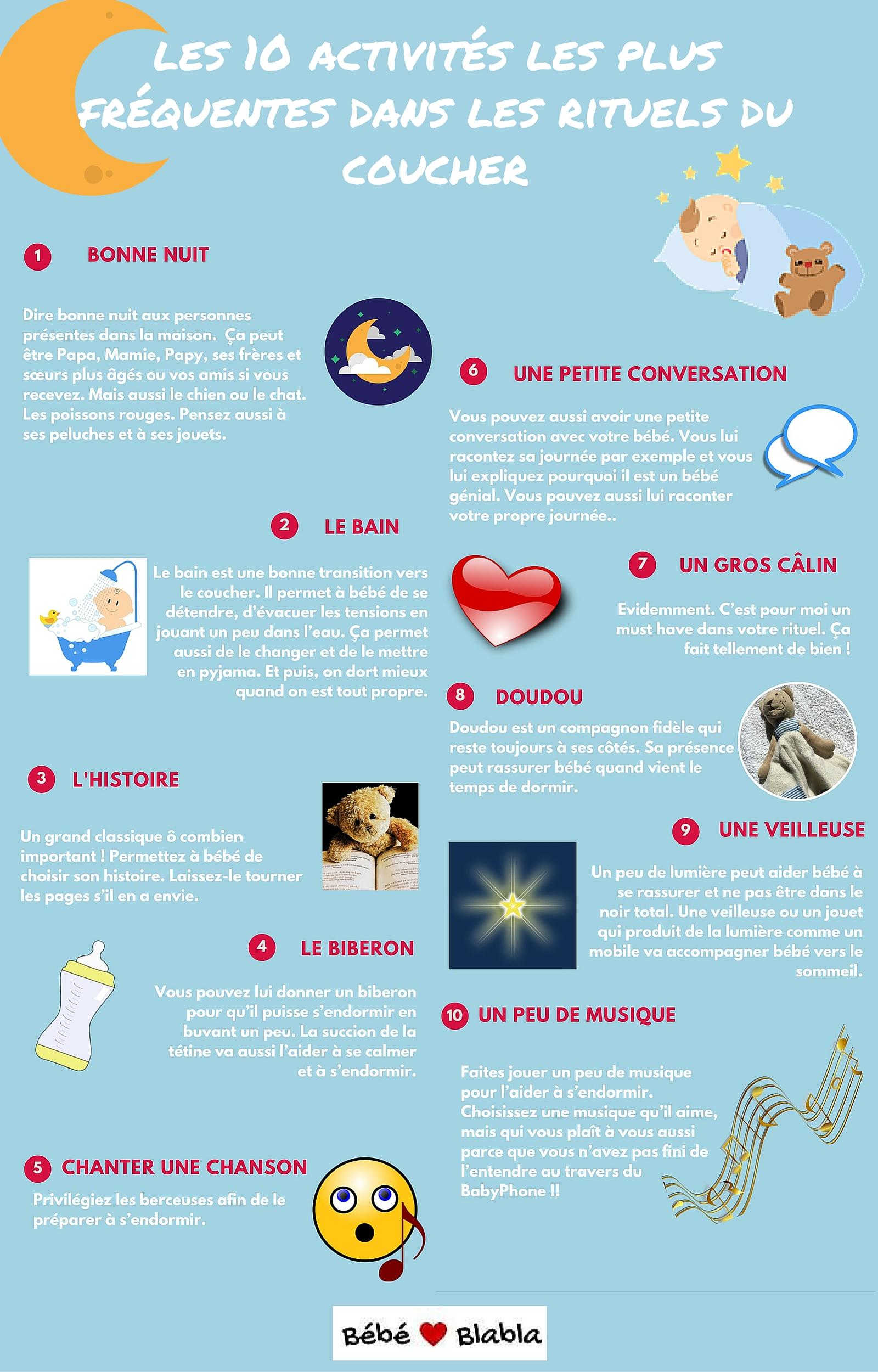 www.bebeblabla.fr activités pour rituels du coucher pour bébé