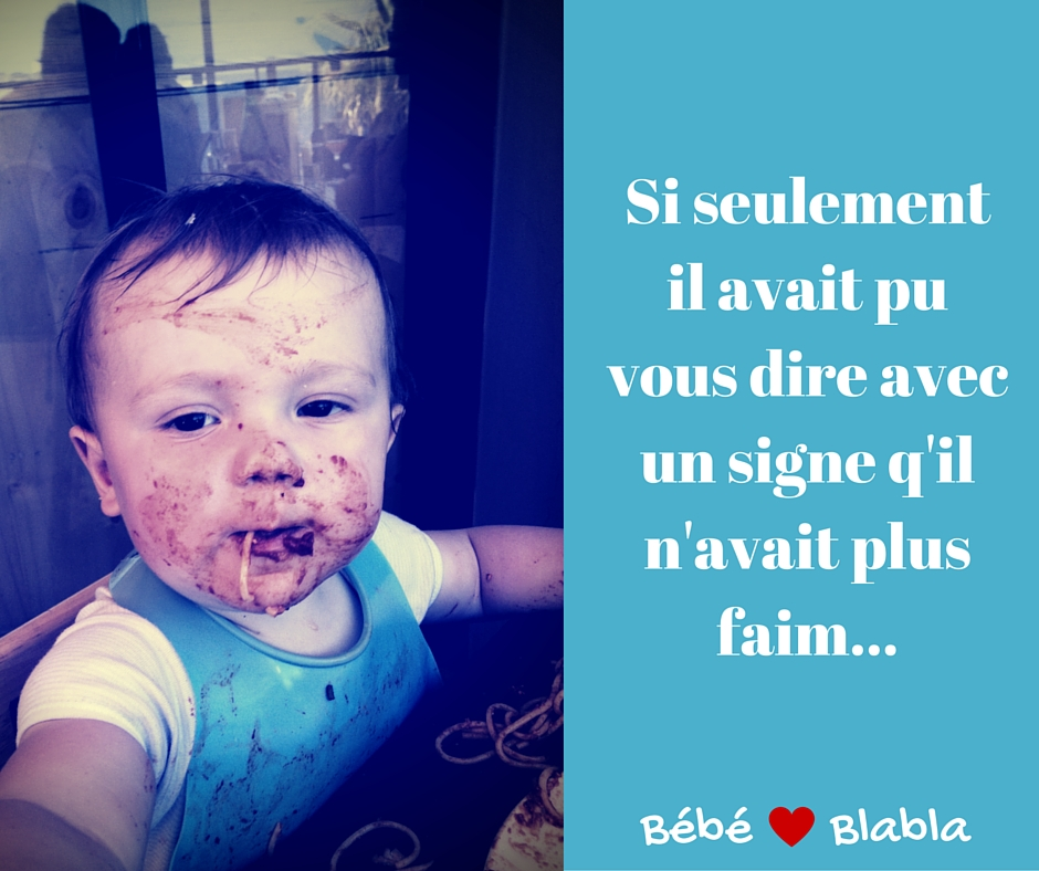 bébé n'a plus faim Le signe Manger aurait pu tout changer