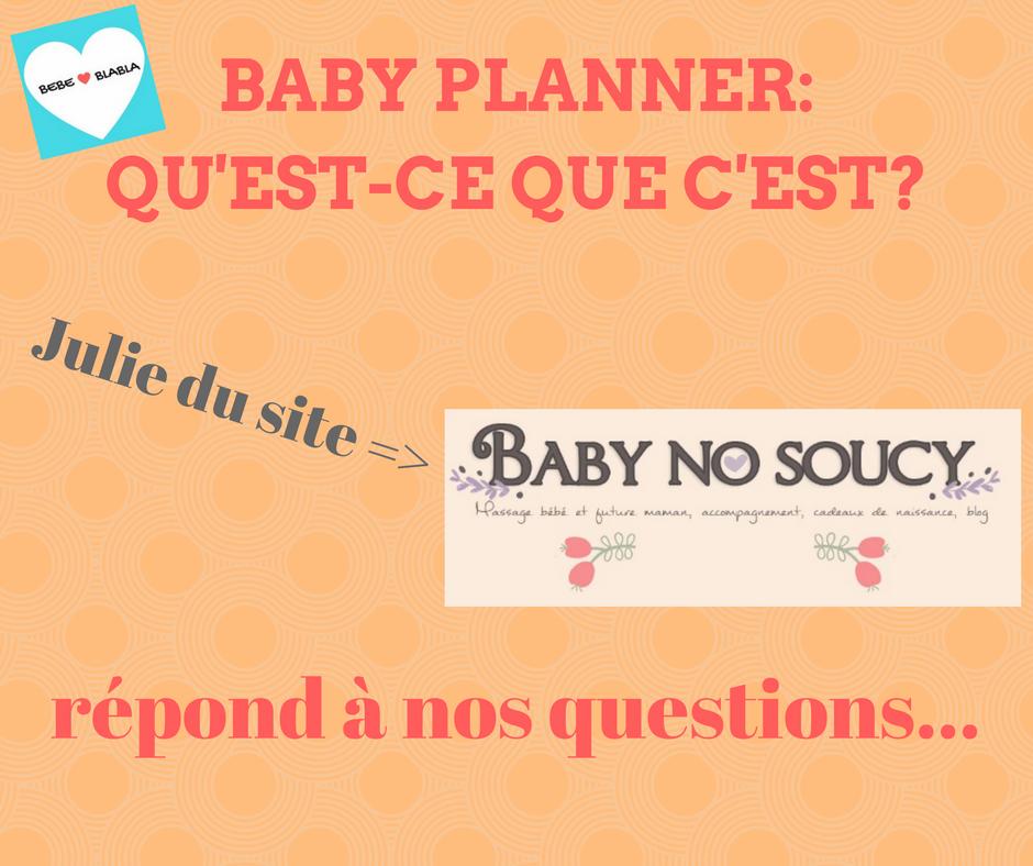 présentation de l'interview de julie, baby planner par bebeblabla.fr