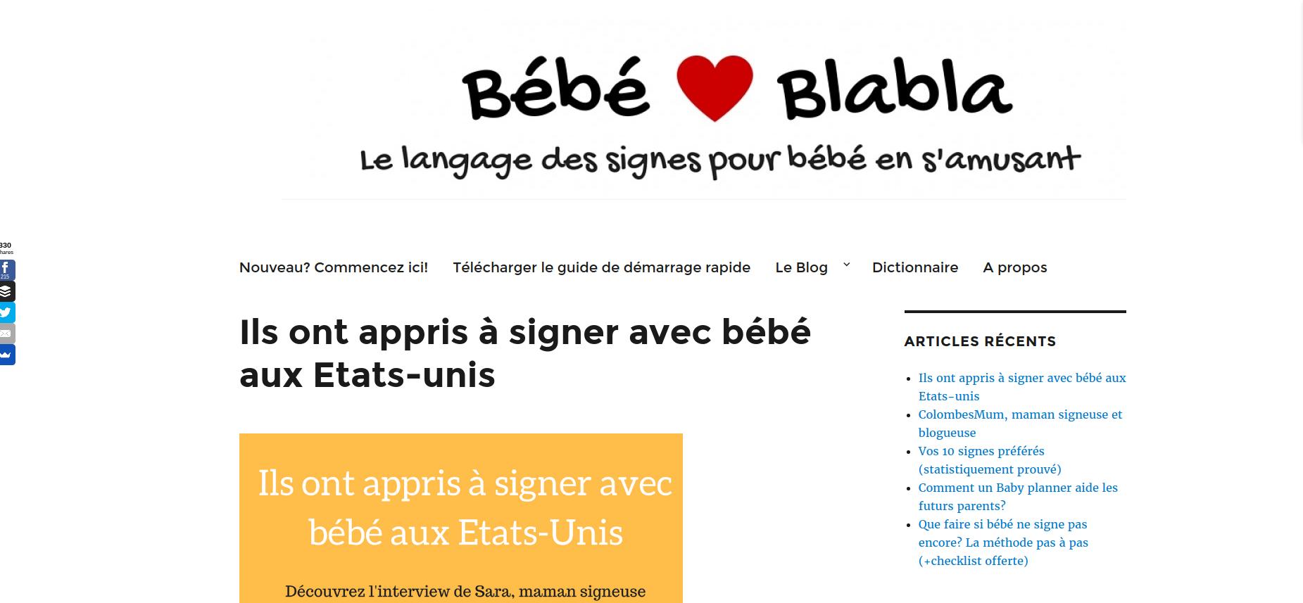 le site bebeblabla.fr