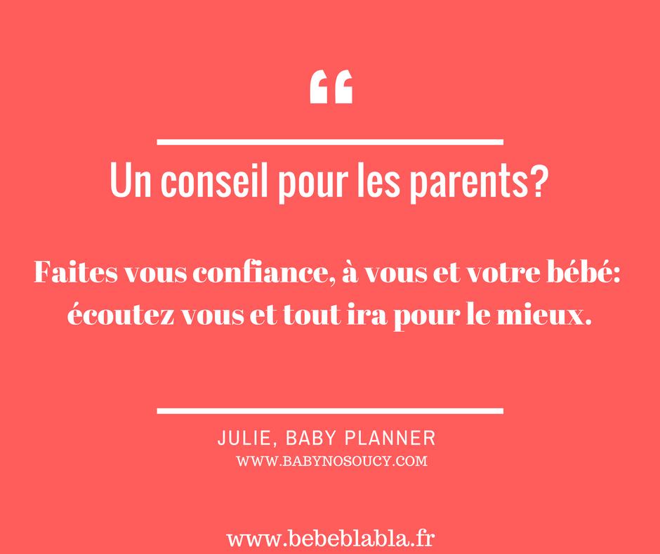 le conseil d'un baby planner