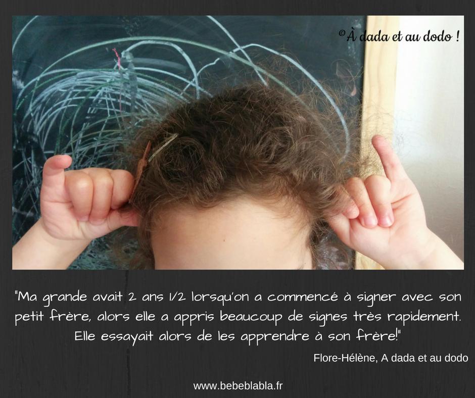 citation langage des signes pour bébé