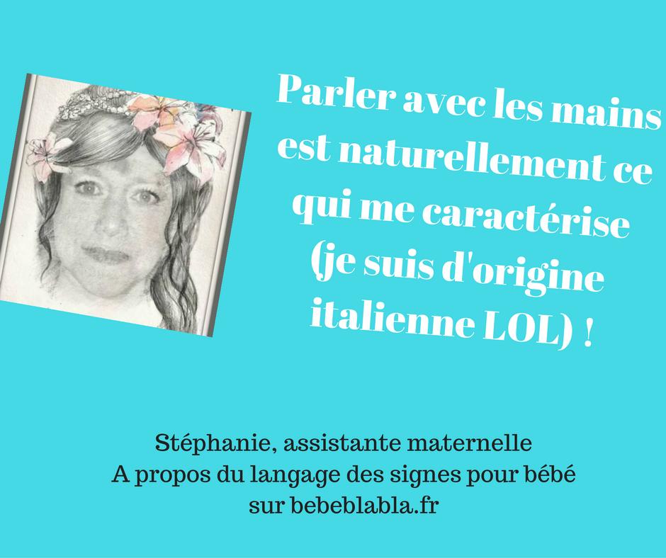 citation assistante maternelle sur le langage des signes pour bébé