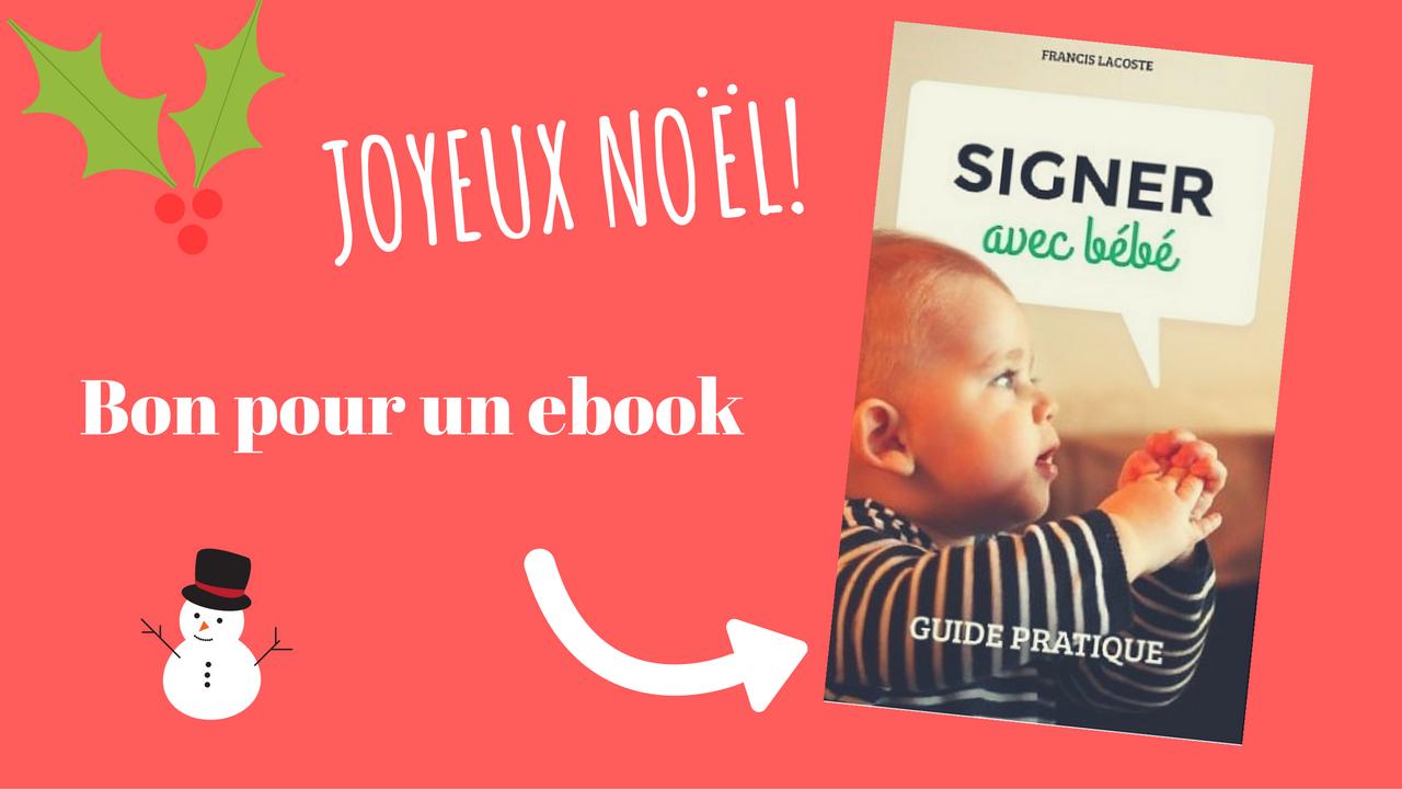 bon cadeau ebook langage des signes pour bébé